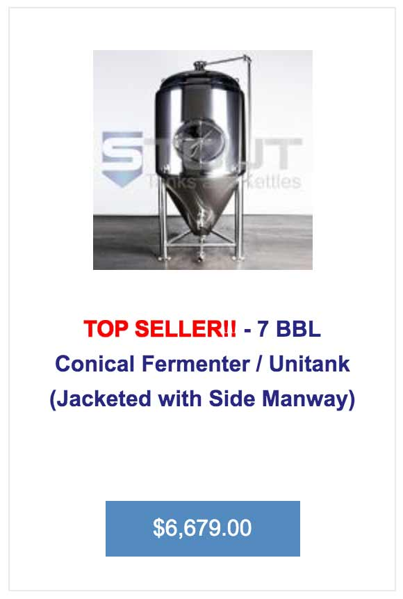 This 7 bbl fermenter from Stout Tanks is a top seller