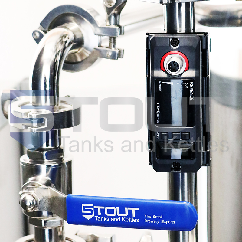 1 bbl brewing system flow meter