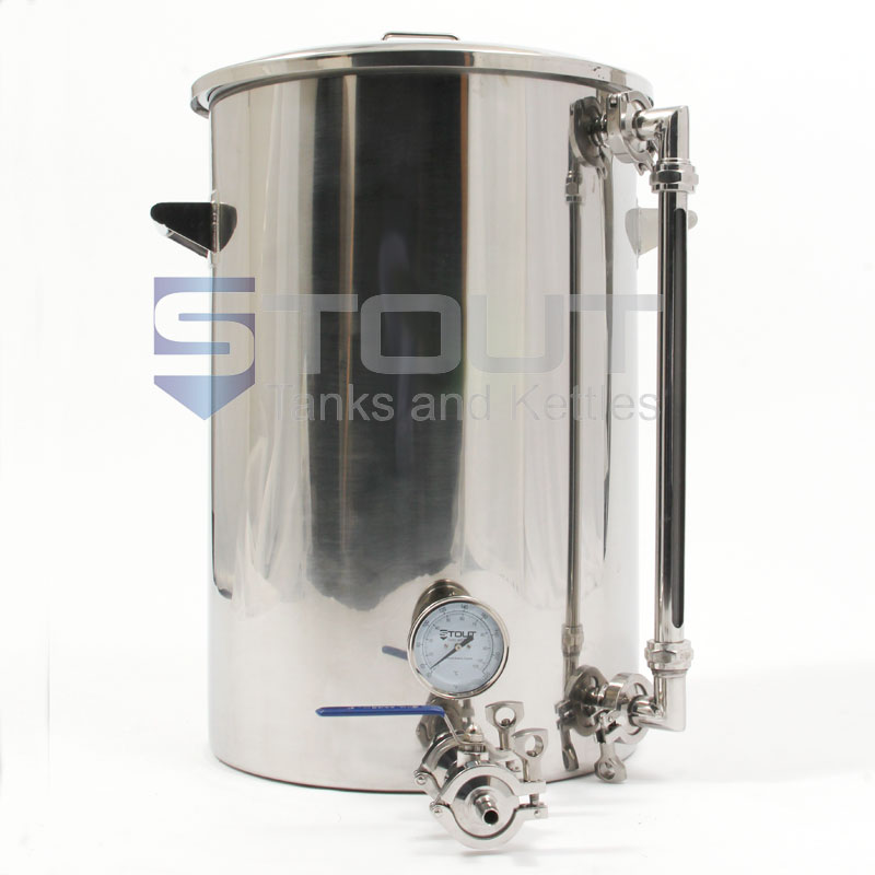 20 Gallon Hot Liquor Tank With Thermowell Thermometer For