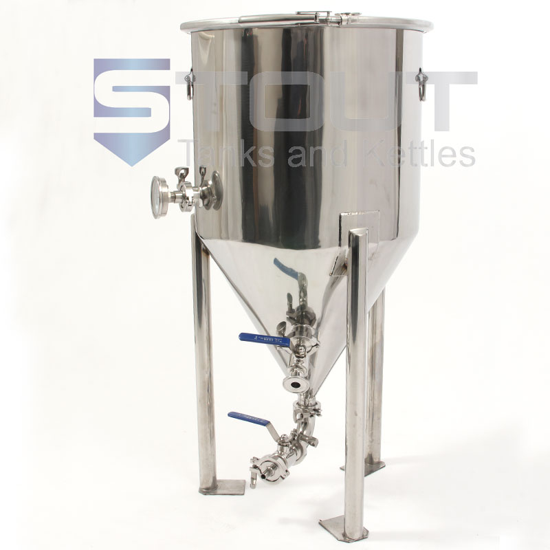 23 Gallon Fermenter with Thermowell, Thermometer and Designed to Fit in a Freezer