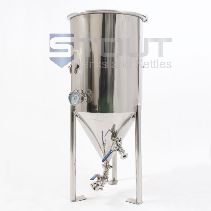 27 Gallon Conical Fermenter with Thermowell and Designed to Fit in a Freezer