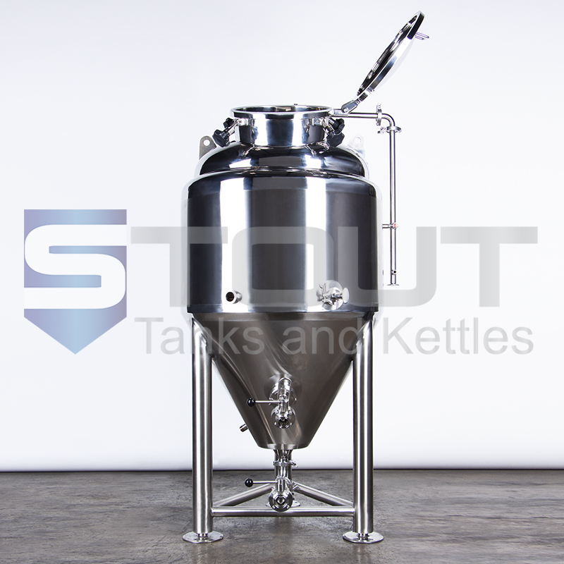 open top manway of our 3.5 bbl conical fermenter with top manway (8560)