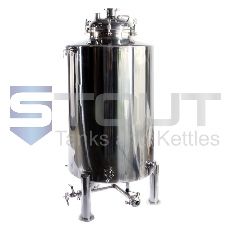 4 BBL brite beer tank front view