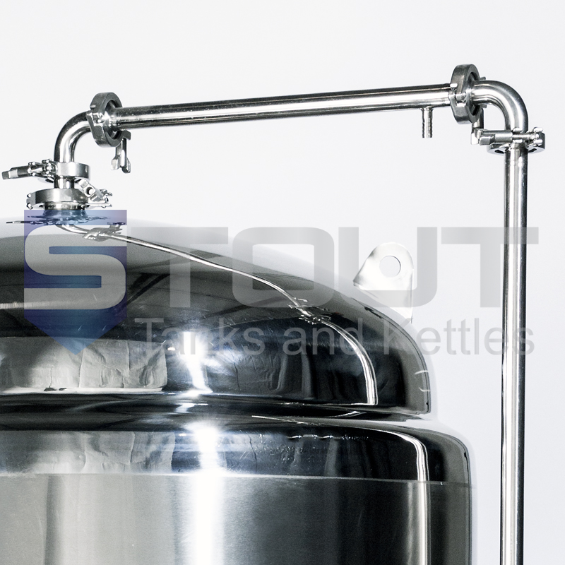 3 BBL Glycol Jacketed Brite Beer Tank with Shadowless Side Manway