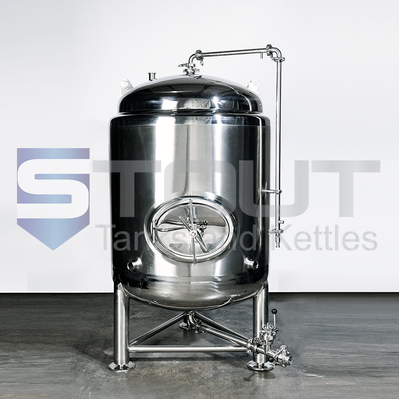 3 Barrel Glycol Jacketed Brite Beer Tank with Shadowless Side Manway