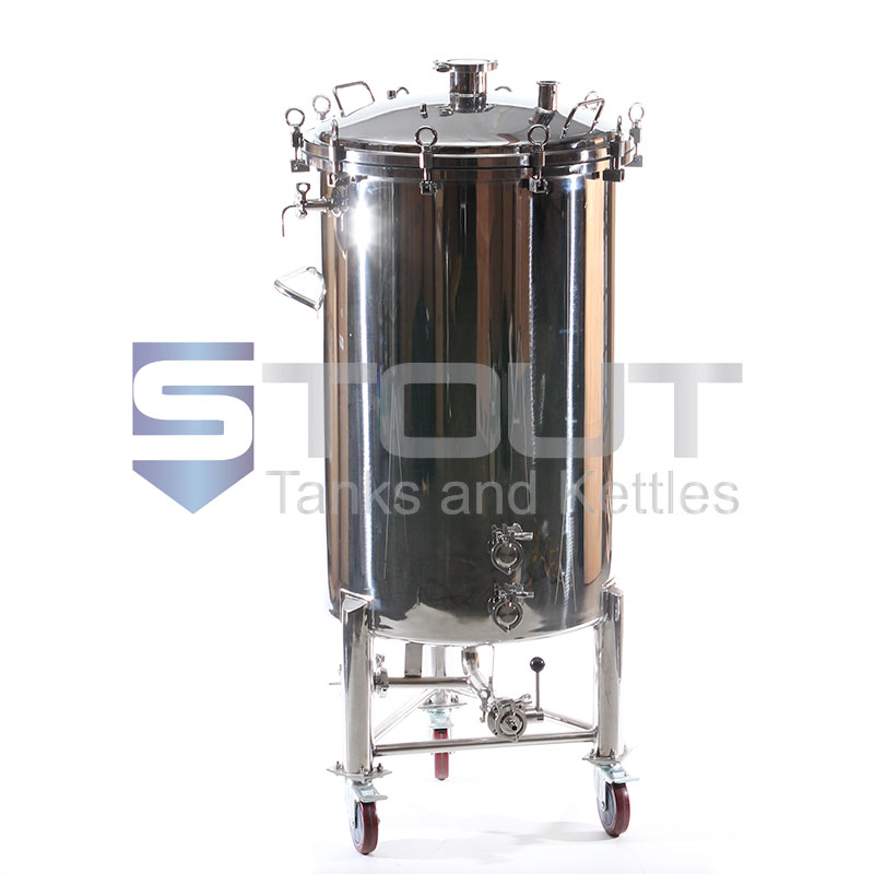 68 Gallon Brite Beer Tank With Butterfly Valves And Wheels