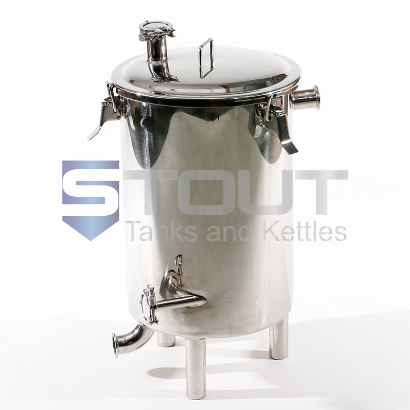 front view of a 9 Gallon Combination Wort Grant / Hop Back