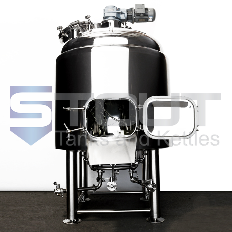 15 BBL mash tun with open manway