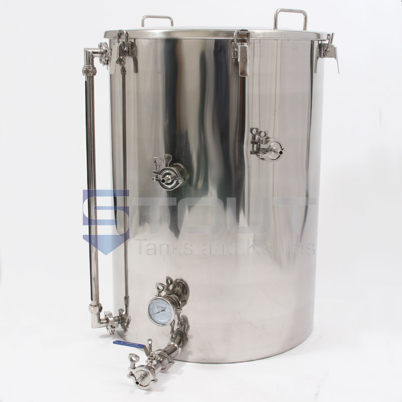 75 Gallon Hot Liquor Tank With Thermowell Thermometer