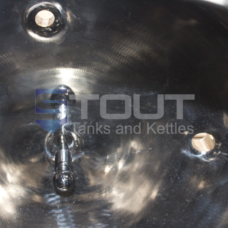 3 bbl jacketed conical fermenter with shadowless manway - inside view 3