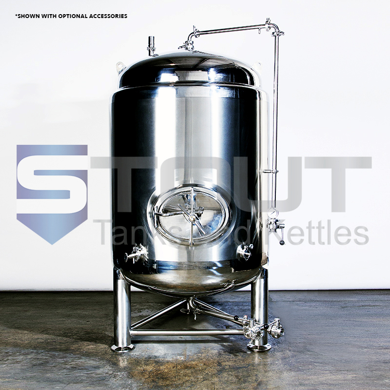 10BBL Brite Beer Tank (jacketed with side manway)