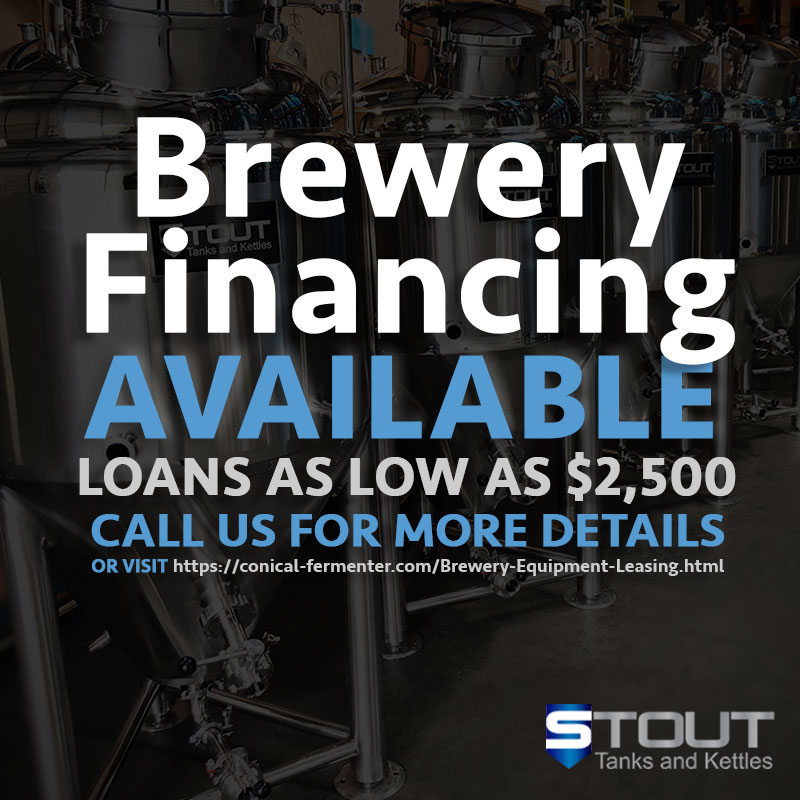 brewery financing options available from Stout Tanks and Kettles