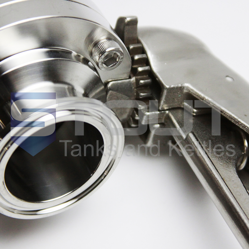 butterfly valves for HERMS Hot Liquor Tank for electric Low Oxygen brewing