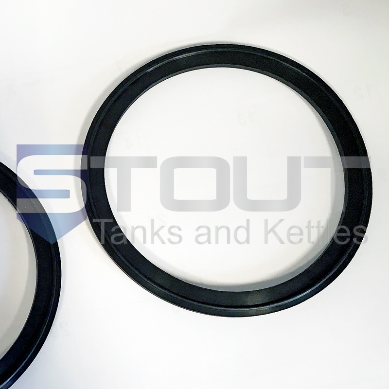 Gasket for mash tun with rakes and plow and 6 inch port