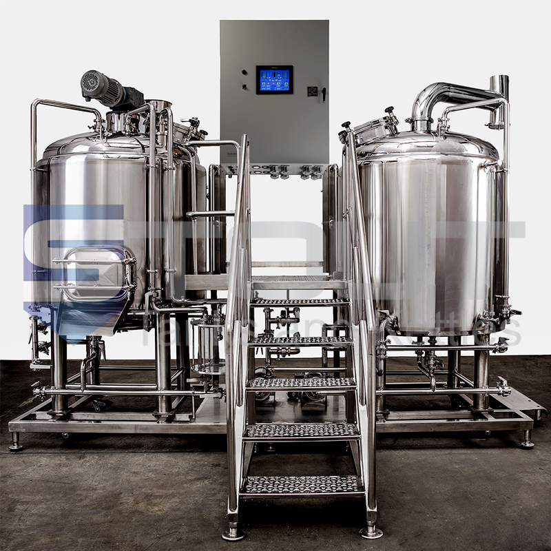 7 bbl Electric Skid Mount Brew House with Insulated Kettles