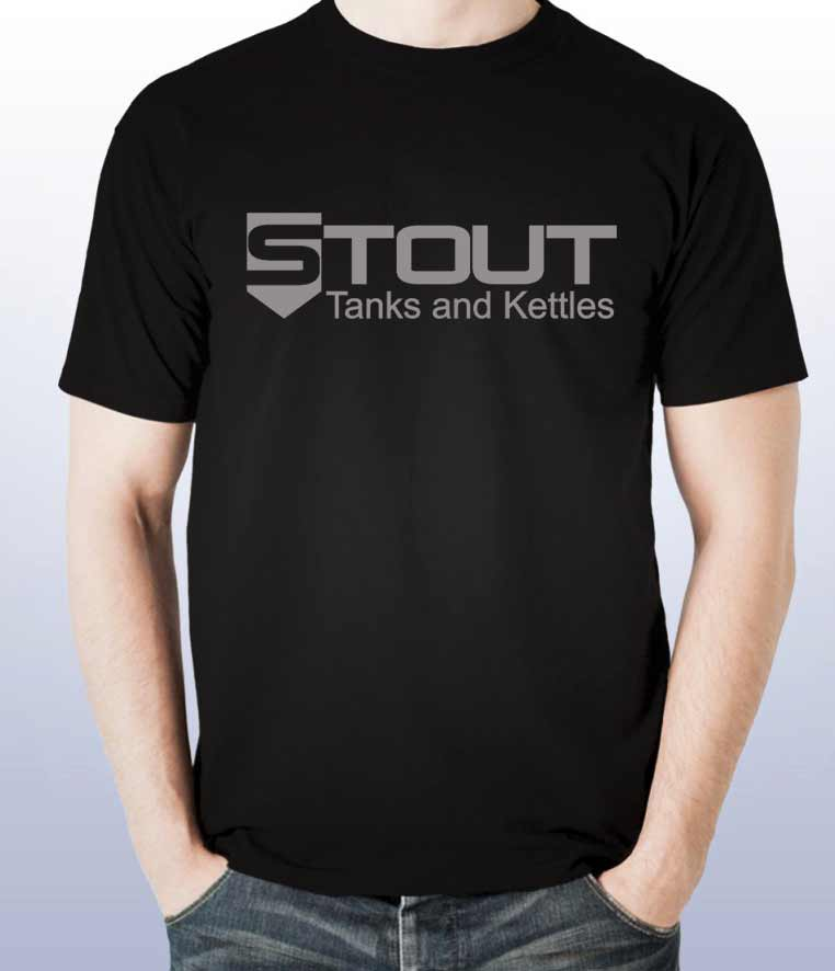 STout Tanks tshirt for sale, black with nothing on the back
