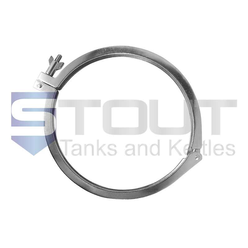 "10"" Single Hinge Sanitary Tri Clamp (Standard, 304SS)"