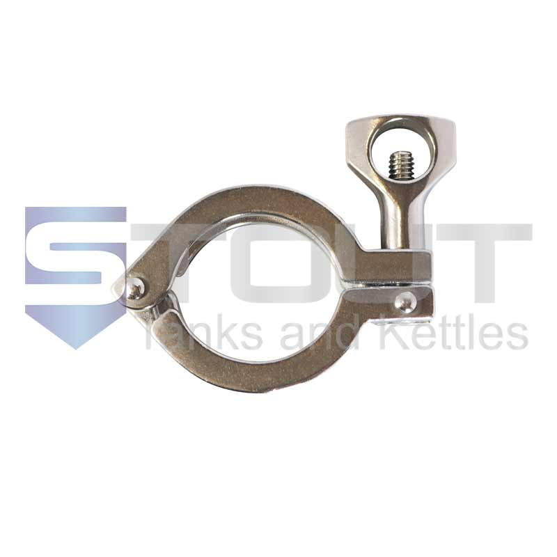 "2"" Single Hinge Sanitary Tri Clamp (Standard, 304SS)"