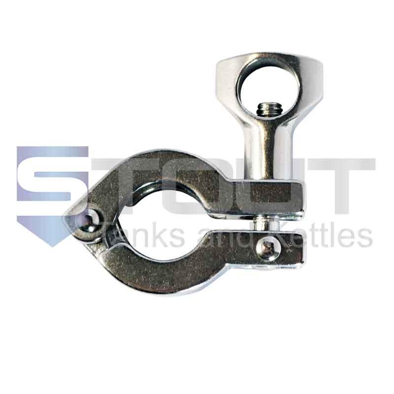 "3/4"" Single Hinge Sanitary Tri Clamp (Standard, 304SS)"