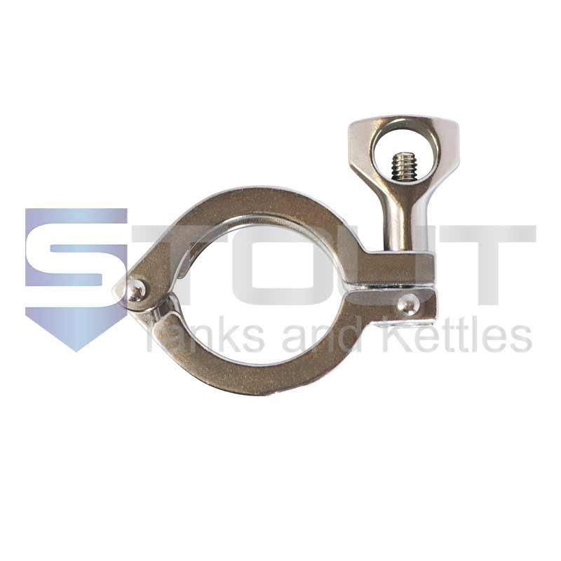 "3"" Single Hinge Sanitary Tri Clamp (Standard, 304SS)"
