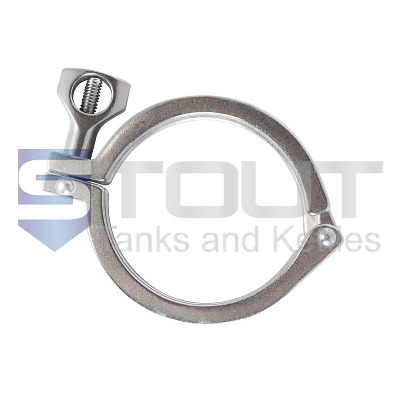 "4"" Single Hinge Sanitary Tri Clamp (Standard, 304SS)"