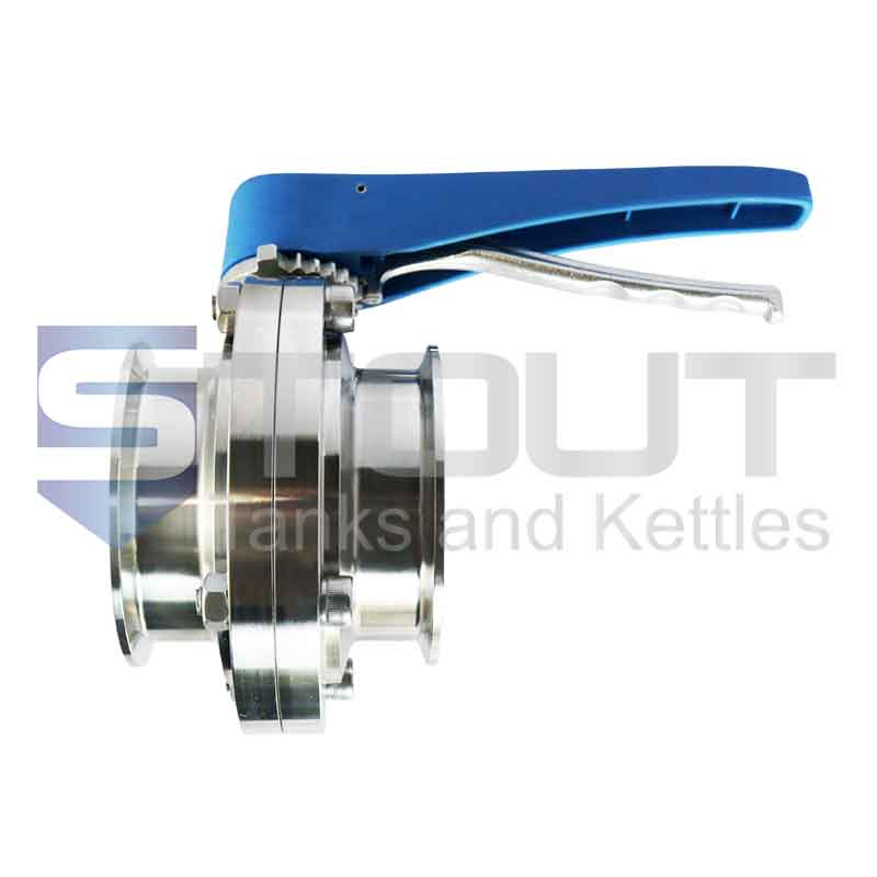 """Butterfly Valve (3"""" TC, Trigger Handle, EPDM, 316SS)"""