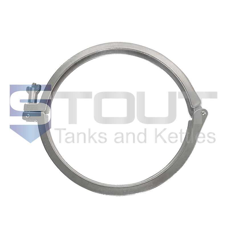 "10"" Single Hinge Sanitary Clamp (Heavy, 304SS)"