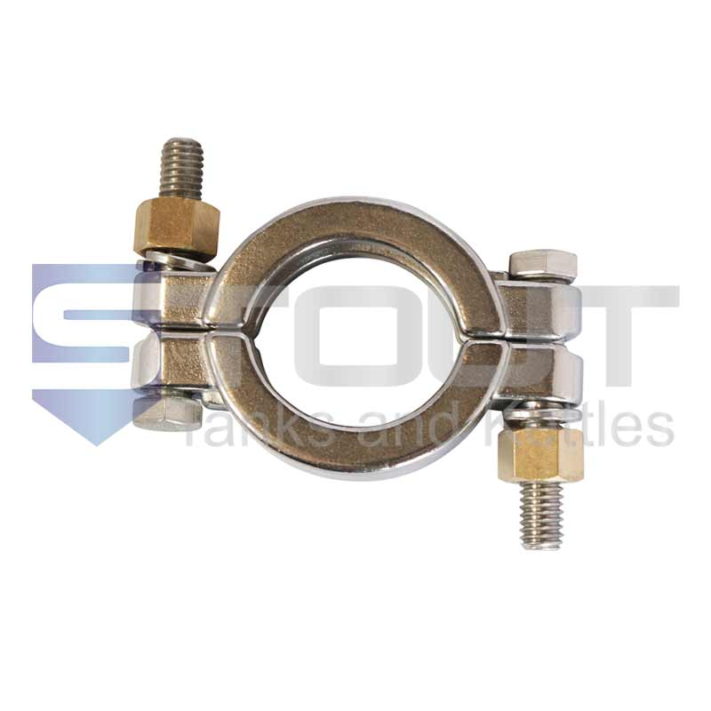 """2"""" High Pressure Clamp (Bolted, 304SS)"""