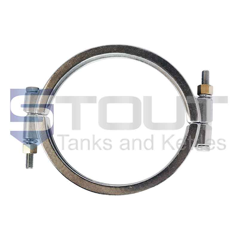 """8"""" High Pressure Clamp (Bolted, 304SS)"""