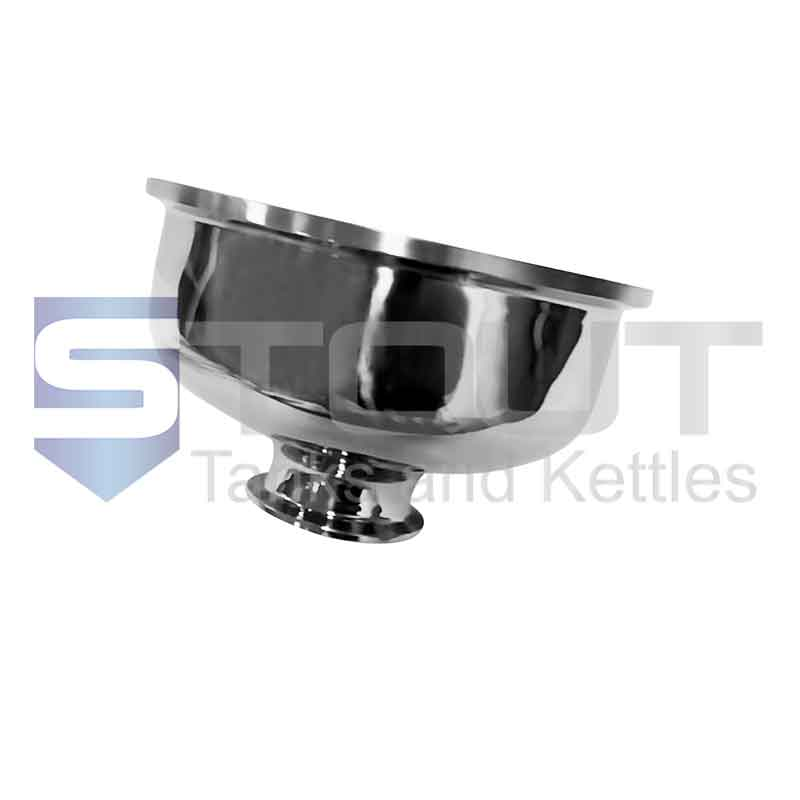 "Bowl Reducer (6"" Tri Clamp x 2"", 304SS)"