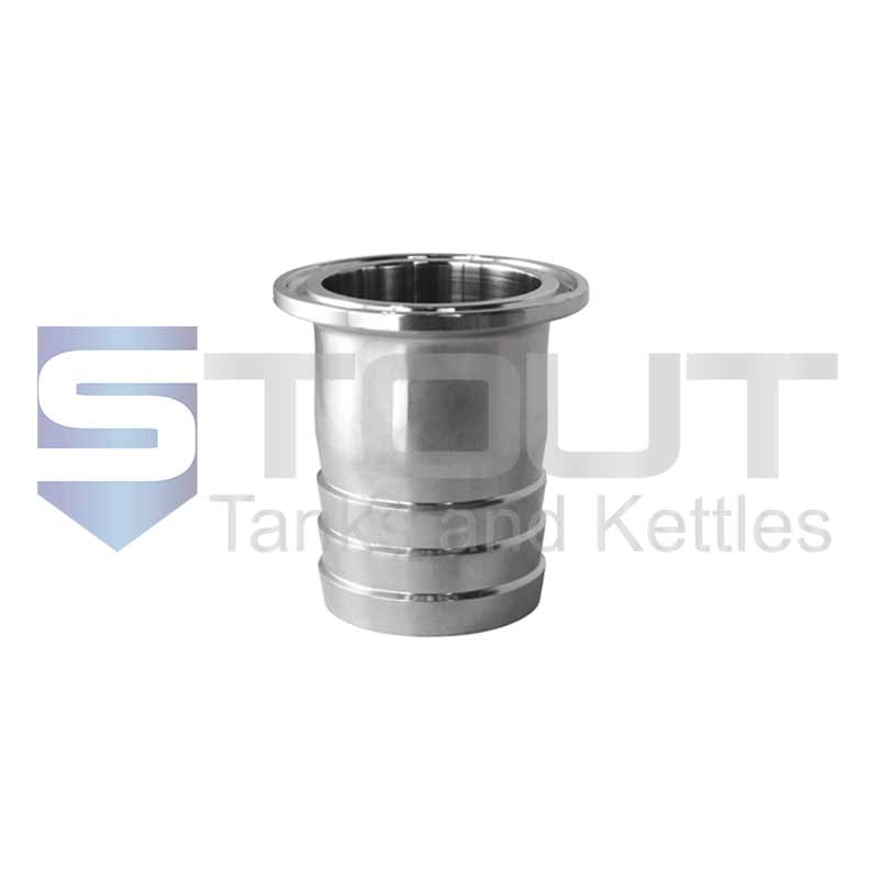 """1.5"""" x 1.5"""" Hose Barb Adapter (304SS)"""