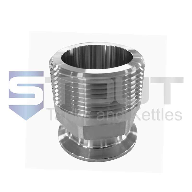 "1.5"" x 1.5"" NPT Adapter (Male, 304SS)"