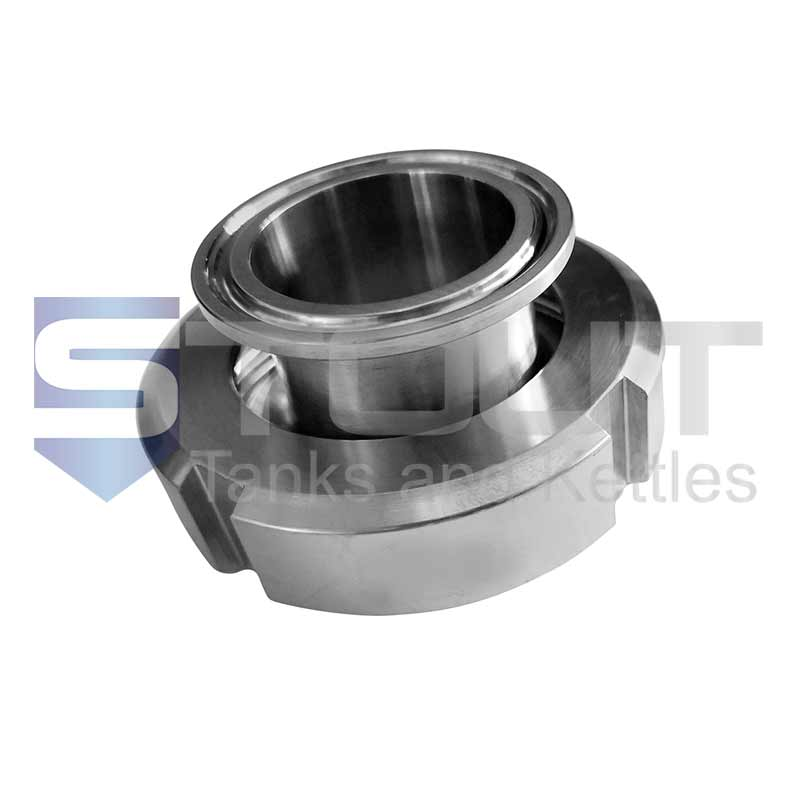 """1.5"""" DIN to Tri Clamp Adapter (Female, 40mm)"""