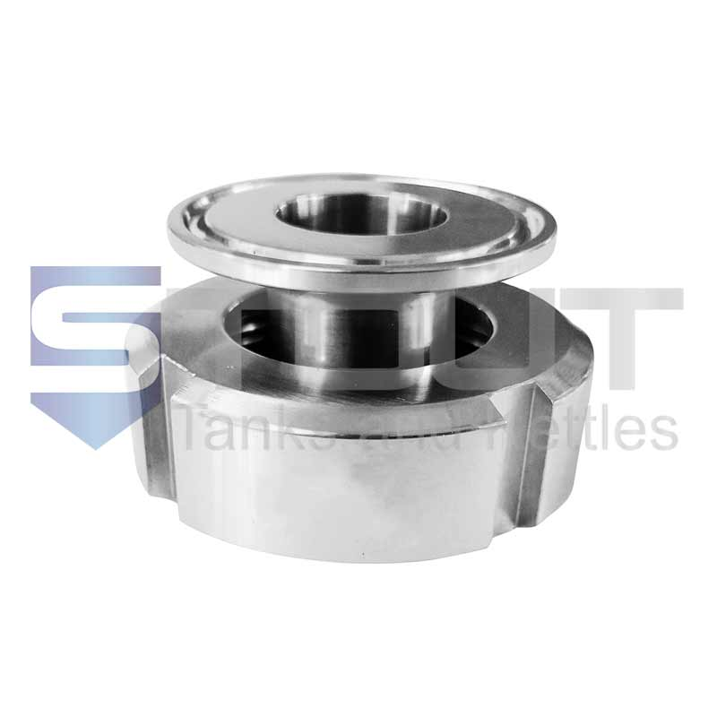 """1"""" DIN to Tri Clamp Adapter (Female, 25mm)"""