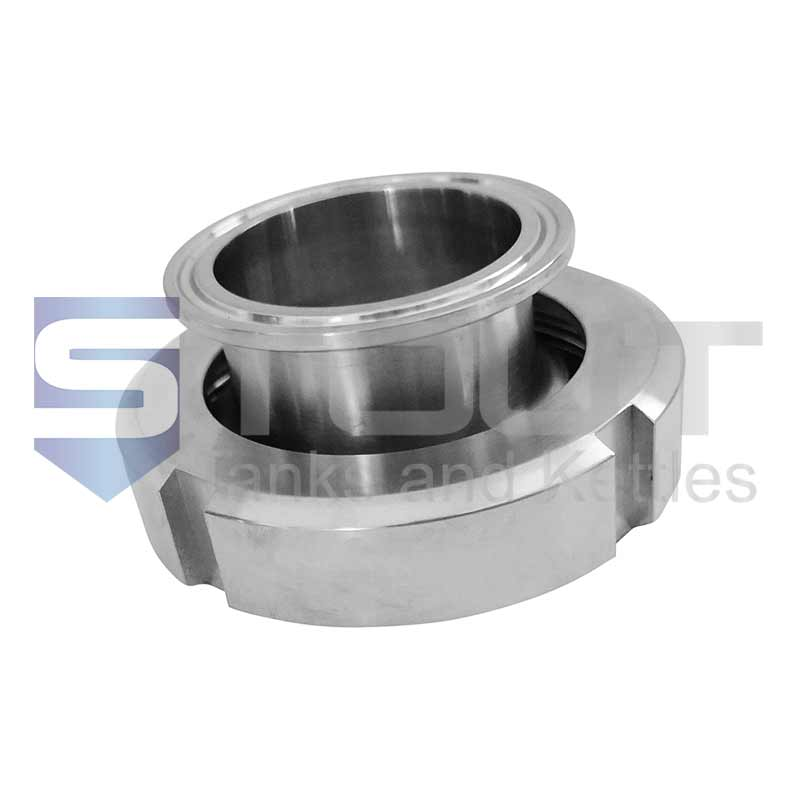 """Liner & Nut x TC 2"""" DIN to Tri Clamp Adapter (50mm)"""