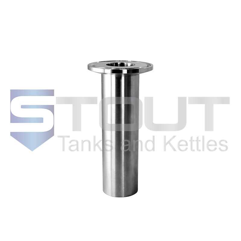 Long Tri Clamp Ferrule (Weld 1 in x 105 mm, 304SS)