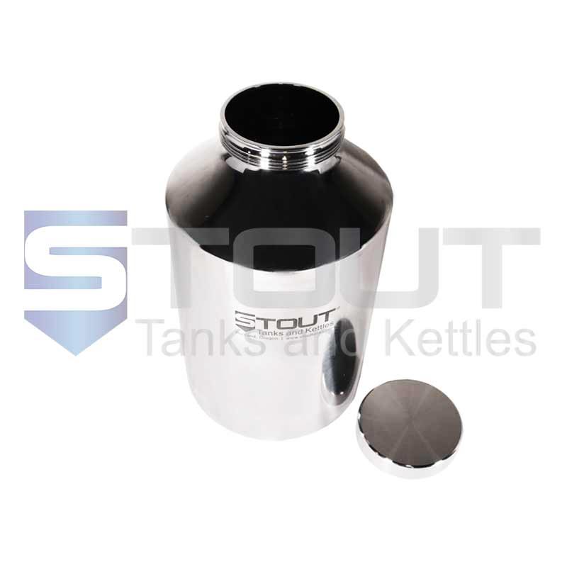 10 Liter Pharma Bottle   Screw-on Lid (316SS)