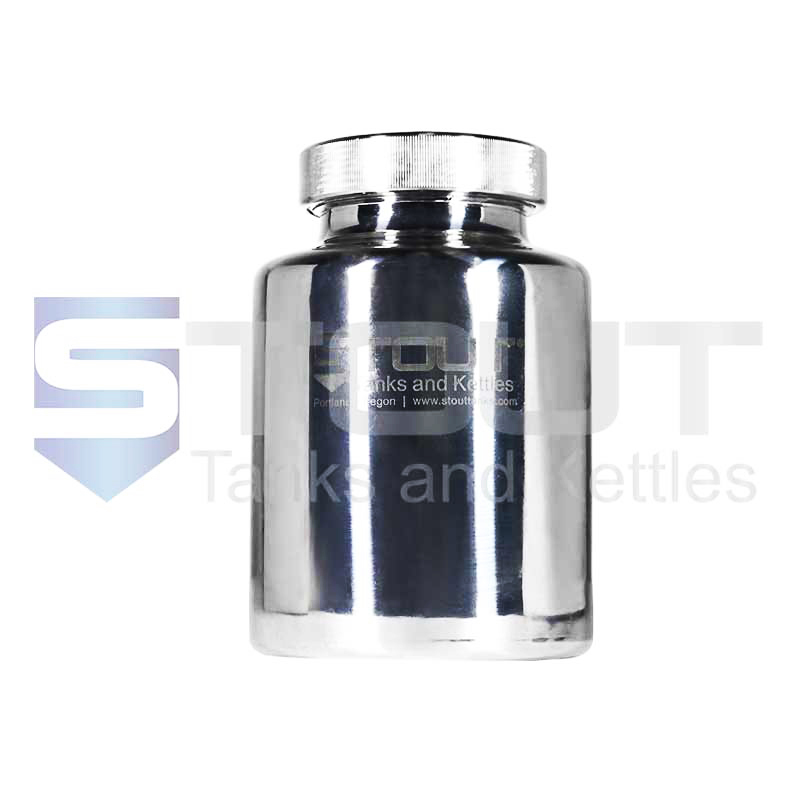 3 Liter Pharma Bottle | Screw on Lid (316SS)