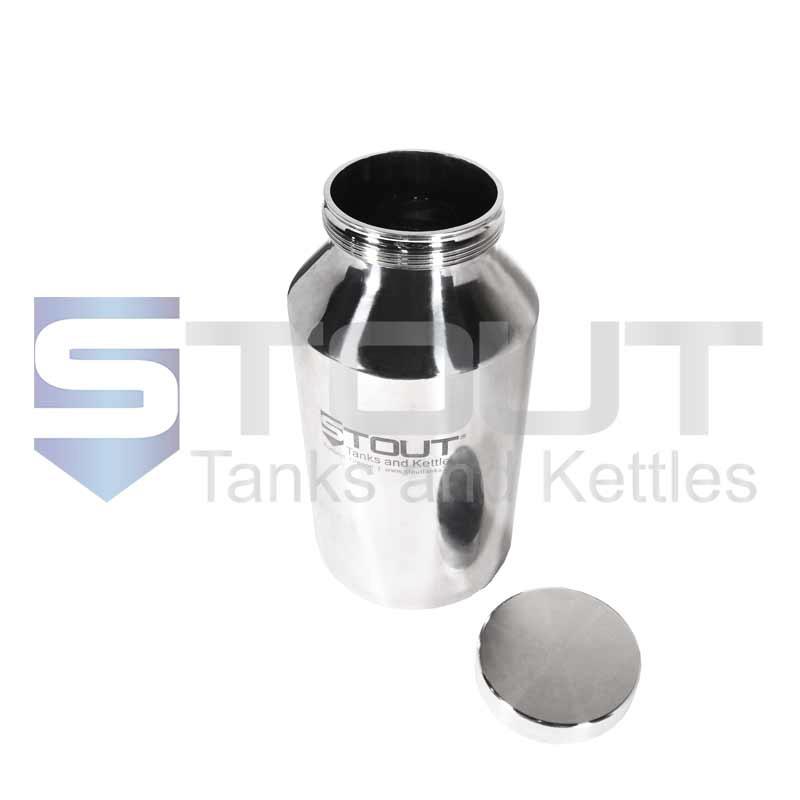 5 Liter Pharma Bottle | Screw on Lid (316SS)