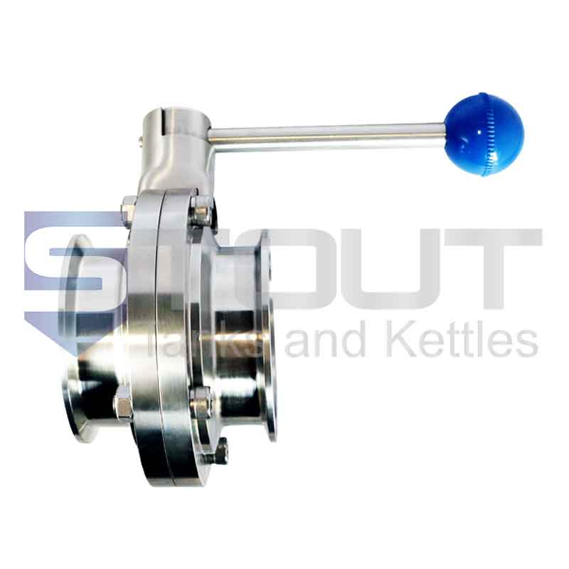 """Butterfly Valve (2.5"""" TC, Pull Handle, EPDM, 316SS)"""