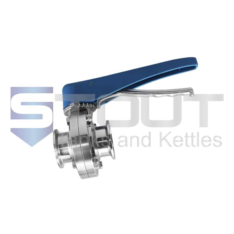 """Butterfly Valve (1.5"""" TC, Trigger Handle, EPDM, 304SS)"""