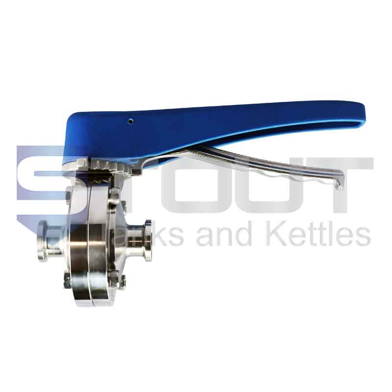 """Butterfly Valve (3/4"""" TC, Trigger Handle, Silicone, 304SS)"""
