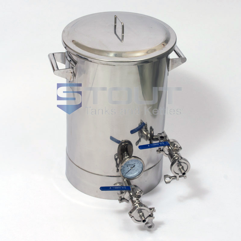 10 Gallon Brew Kettle - with Thermowell, Tangential Inlet (Direct Fire)