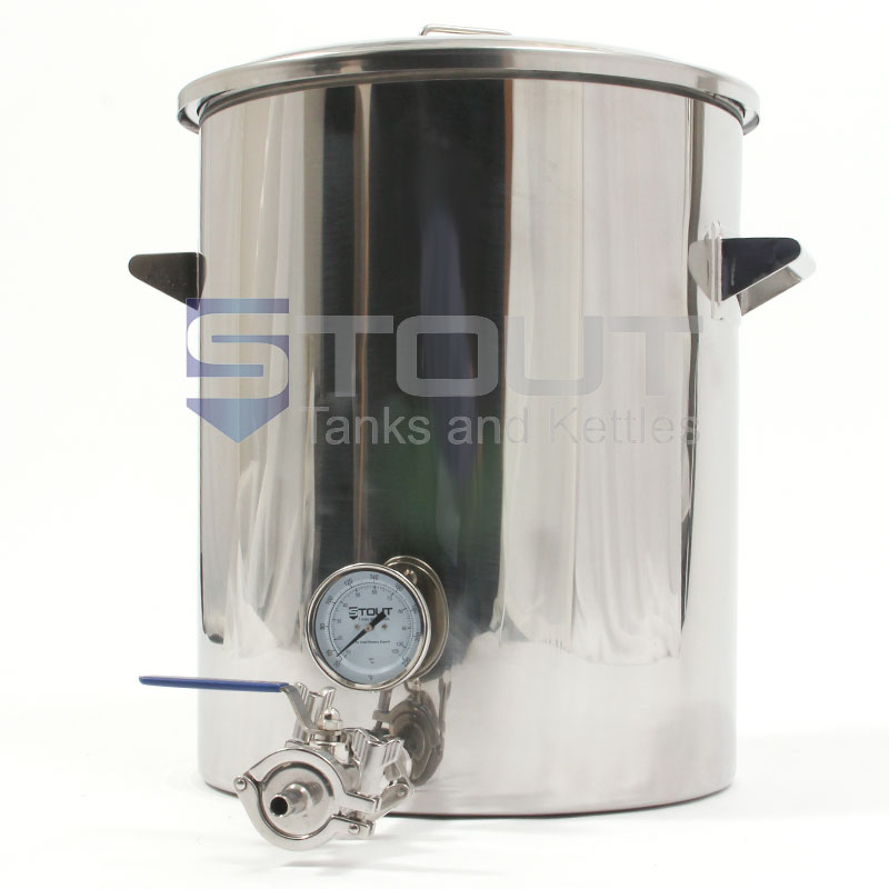 9 Gallon Hot Liquor Tank (with Thermowell and Thermometer)