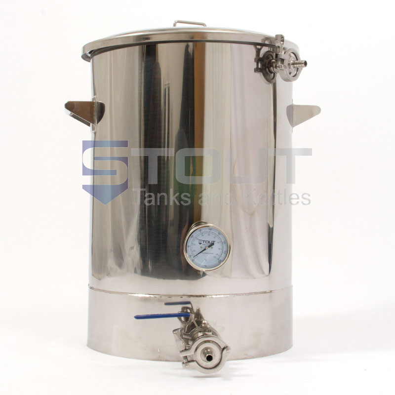 MT15TW-RF-BO (462) 15 Gallon Mash Tun with Recirculating Fitting and Bottom Outlet