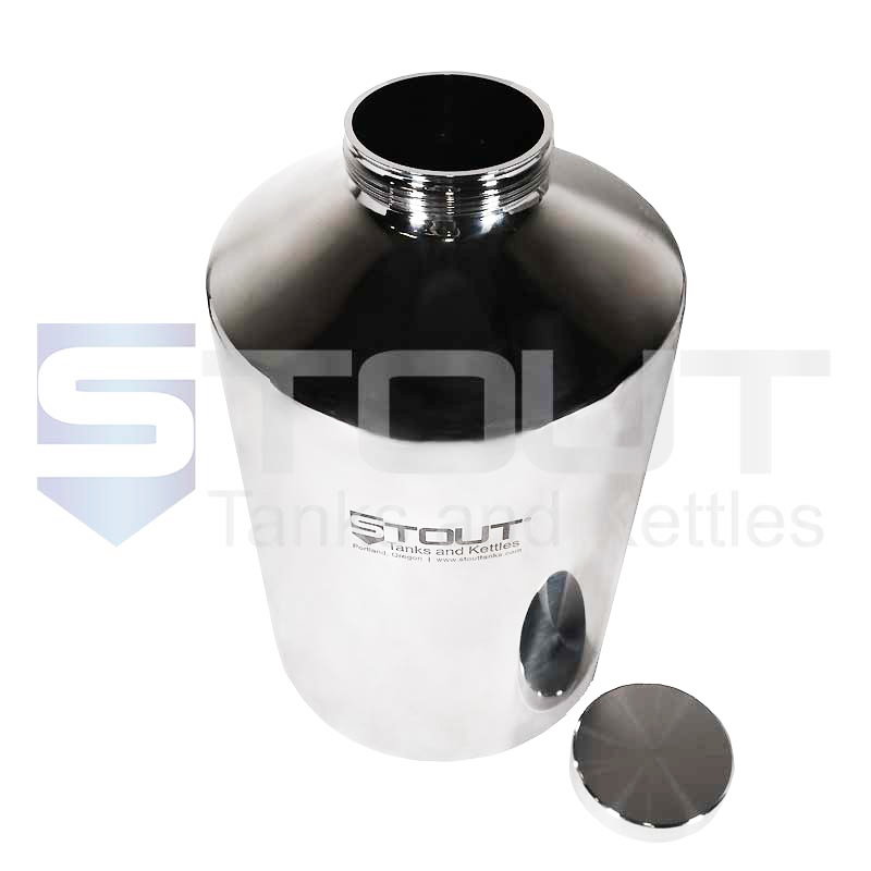 20 Liter (5 Gal) Pharma Container | Screw on Lid (316SS)