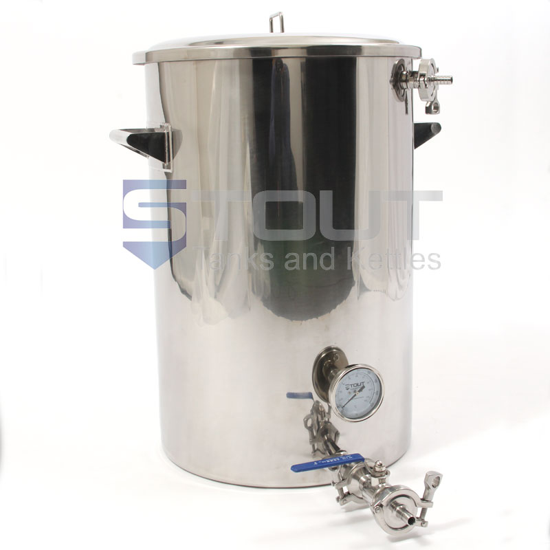 20 Gallon Mash Tun (with Recirculating Fitting and Side Outlet)