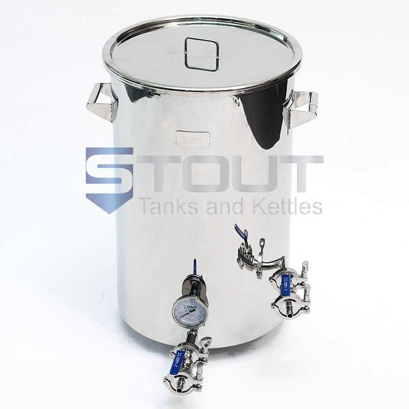 21 Gallon Brew Kettle - Flat Bottom with Trub Dam (Direct Fire)