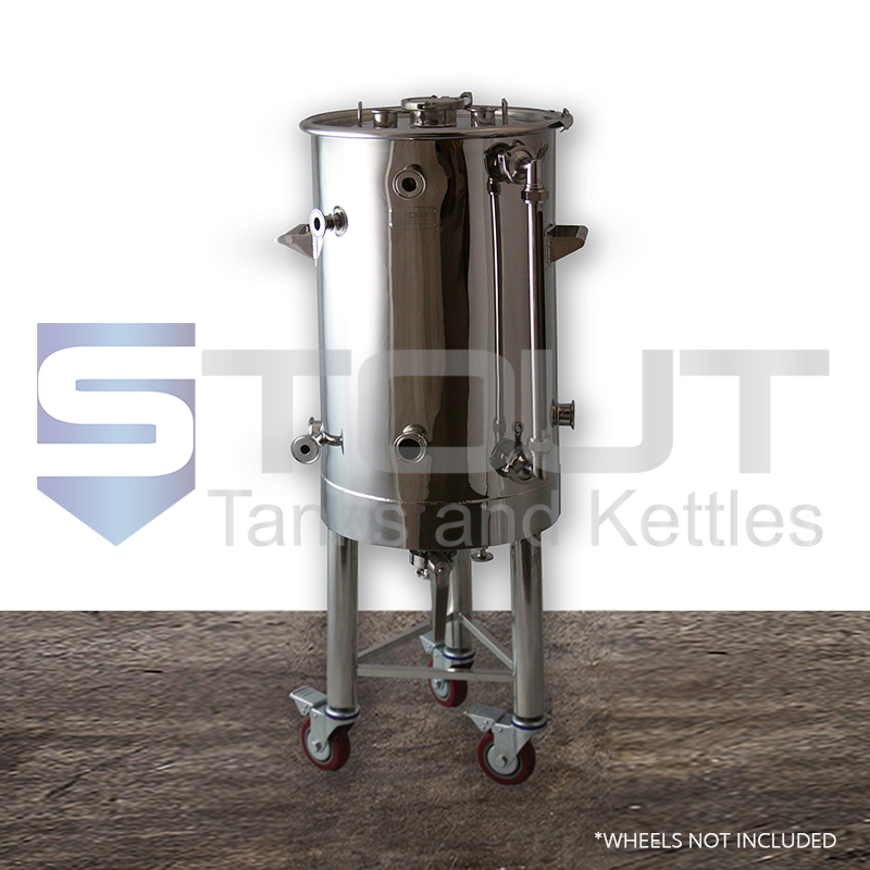 26.6 Gallon HERMS Hot Liquor Tank for Electric Low Oxygen brewing (On Legs)