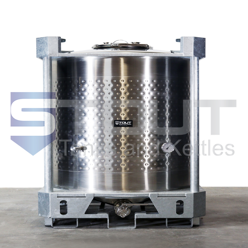 275 Gallon IBC Tote (304SS, Jacketed, Center Outlet)